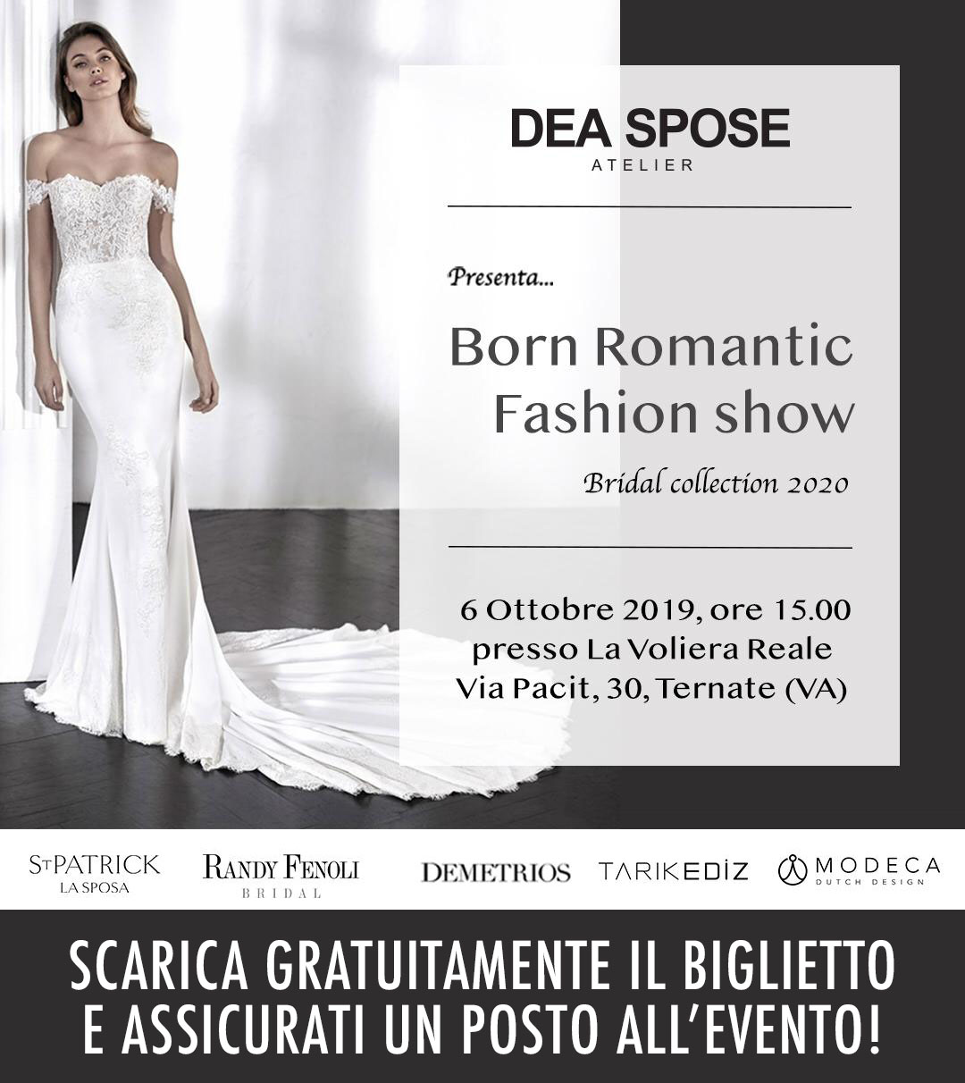 DEA SPOSE Born Romantic Fashion Show 6 ottobre 2019